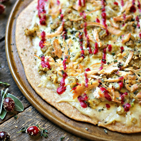 Holiday Leftovers Whole Grain Pizza