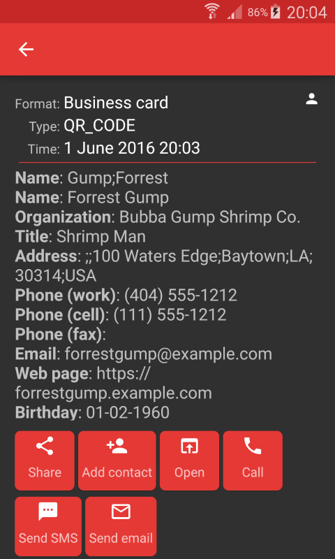 ScanDroid code scanner (PRO) Screenshot 2