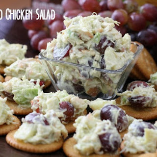 AVOCADO CHICKEN SALAD topped RITZ® CRACKERS