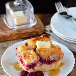 Overnight Raspberry-coconut Cream Stuffed French Toast