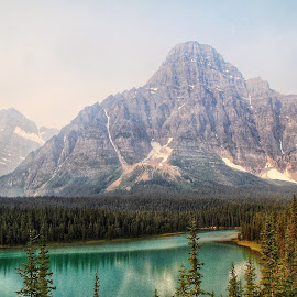 Mountain at Bow Lake by Margie Troyer - Landscapes Mountains & Hills (  )