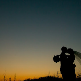 Sunset by Drew Noel - Wedding Bride & Groom ( drew noel photography )