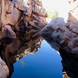 Rock Reflections by Amanda Stevenson - Landscapes Waterscapes ( water, kakadu, gunlom, northern territory, hiking,  )