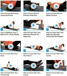 Foam Roller Exercices Fitness app screenshot 1 for Android