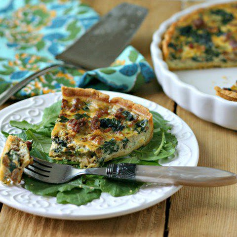 Paleo Quiche with Chorizo and Spinach