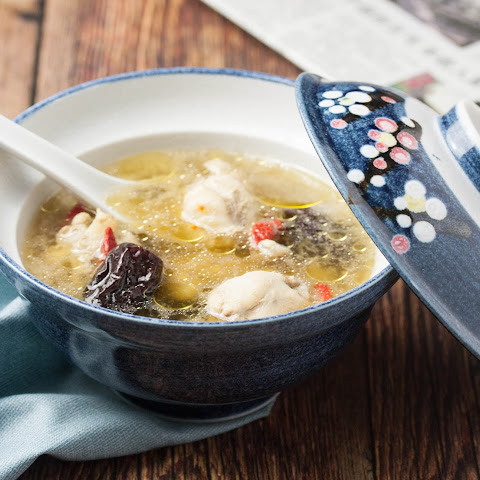 Chinese Chicken Soup with Red Dates and Goji Berries