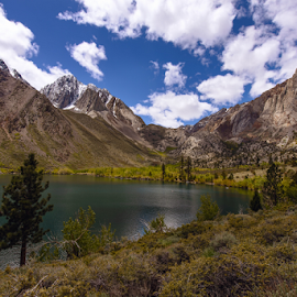 Spectacular Convict Lake by Jeanine Akers - Landscapes Mountains & Hills ( clouds, mountains, blue sky, convict lake, nikond610 )