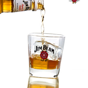Reflections of the weekend by Bronwyn Holmes - Food & Drink Alcohol & Drinks ( jim beam alcohol glass ice pour )