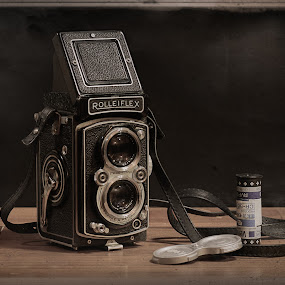 1951 Rolleiflex by Bill Camarota - Artistic Objects Antiques ( film, vintage, still life, camera, retro, antique )