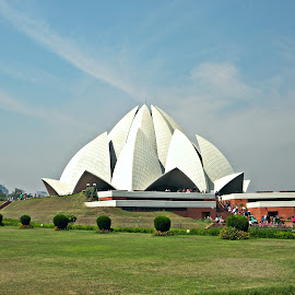 Lotus Temple by Saptak Banerjee - Buildings & Architecture Places of Worship ( temple, lotus temple, white, india, architecture, worship )