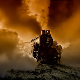 steam monster by Dries Fourie - Transportation Railway Tracks