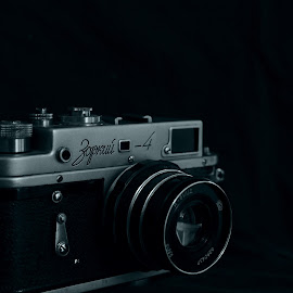 Rangefinder by Pinaki Pal - Artistic Objects Antiques ( black and white, low light, nikon, close up, antiques )
