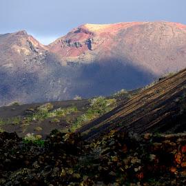 Lanzarote volcano. by Lorraine Bettex - Landscapes Mountains & Hills