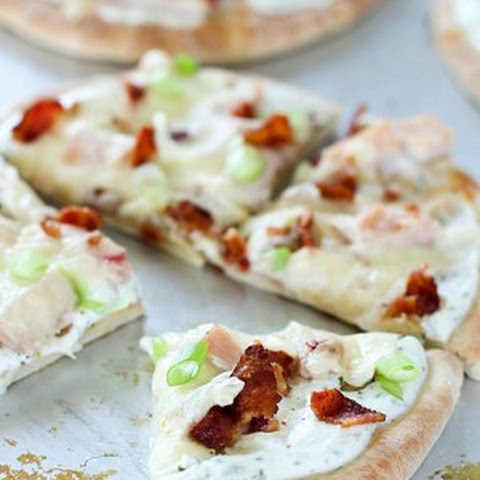 Bacon Ranch Chicken Pita Pizza
