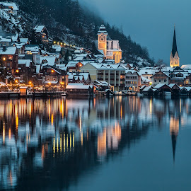 Hallstatt by Zoran Osijek - City,  Street & Park  Night ( reflection, 2tutleks, hallstatt )