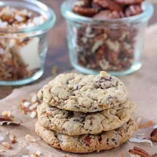 Chocolate Chunk Toasted Coconut and Pecan Cookies