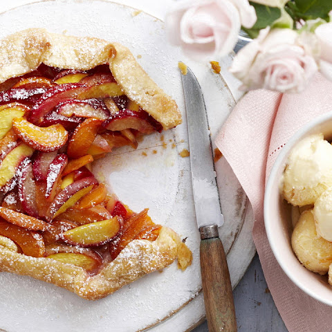 Peach, Plum and Apricot Galette