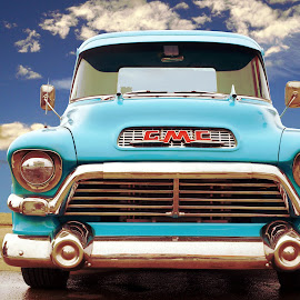 Truck by Joerg Schlagheck - Digital Art Things ( clouds, new, great, blue, new thing., tag, gmc, true, paint, toast, my )