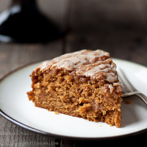 Pumpkin Coffee Cake with Brown-Sugar Streusel