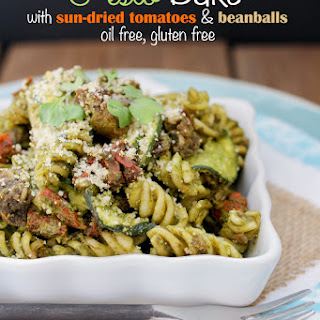 Baked Sun-Dried Tomato Pesto Noodles and Zoodles