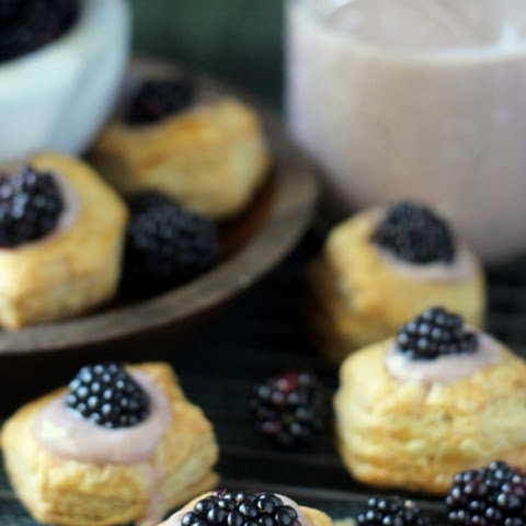 Blackberry Almond Custard Cups