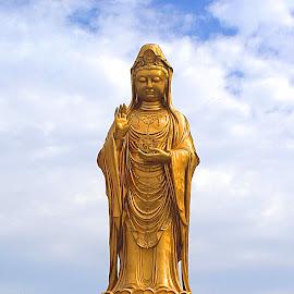 Guanyin, Mt Puoto by Bern Meister - Buildings & Architecture Statues & Monuments ( guanyin, statue, mt puoto, bodhisatva,  )