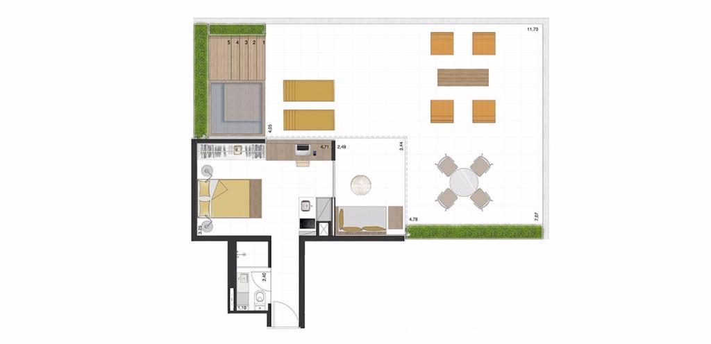 Garden Tipo 5  - 103 m²