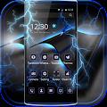 APK App Blue Tech Theme Thunder Blitz for BB, BlackBerry