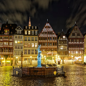 by Jaideep Abraham - City,  Street & Park  Night ( frankfurt, street, germany, night )