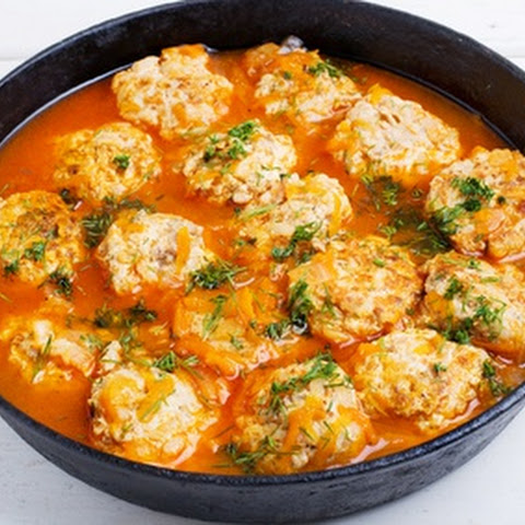 Turkey Meatballs in Thai Coconut Sauce