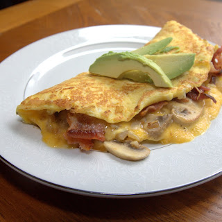 Cheddar Bacon Omelette
