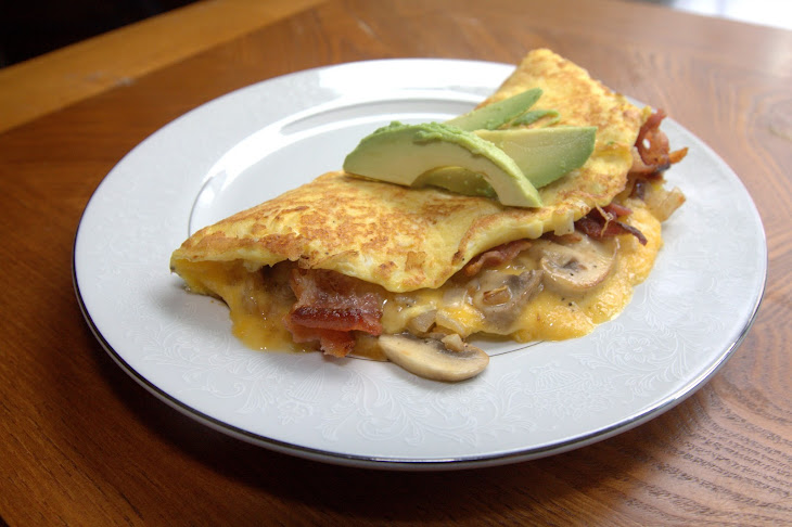 Cheddar Bacon Omelette Recipe | Yummly