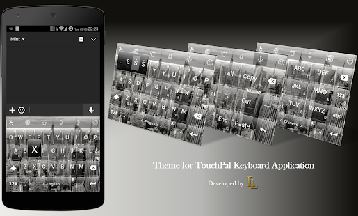 Keyboard Theme Glass City BW - screenshot