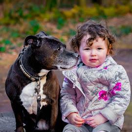 Nanny dog 2 by Jenny Trigg - Animals - Dogs Portraits ( child, autumn, kids and dogs, dog portrait, staffordshire bull terrier, nanny dog, spring, kid )