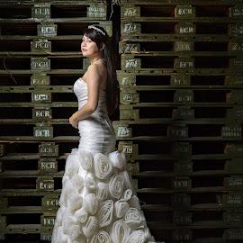 Emily by Wang David - Wedding Bride ( david wang pixels, the wedding boss, bonjangles, pre wedding shoots, wedding shoots )