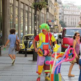 the clown by Anto Boyadjian - People Street & Candids ( colorful, clown, colors )