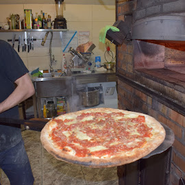Fresh Pizza by Richard England - Food & Drink Cooking & Baking ( comfort food, pizza margherita, pizza, fast food, oven baked pizza )
