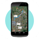 GPS Route Finder Maps Icon