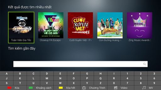 Zing TV for Android TV screenshot 2