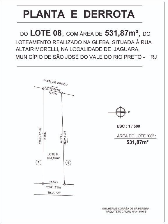 Terreno Residencial à venda em Jaguara, São José do Vale do Rio Preto - RJ - Foto 2