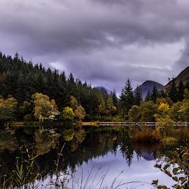 Glencoe Loch by Mandy Hedley - Landscapes Travel ( water, glencoe, reflections, sunrise, loch, landscape )