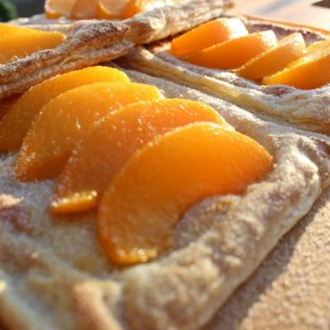 Peach And Almond Puff Pastry Tarts