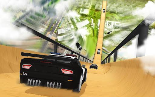 US Police Mega Ramp Car Stunts Racing: Cop Driving For PC