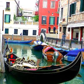 Gondola by Magdalena Dedić - Novices Only Street & Candid ( venezia, gondola )