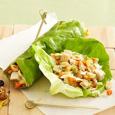 Chicken-Ginger Lettuce Wraps