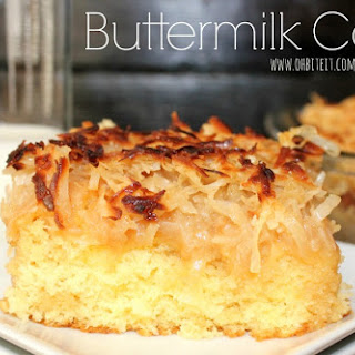 ~Toasted Coconut Buttermilk Cake!