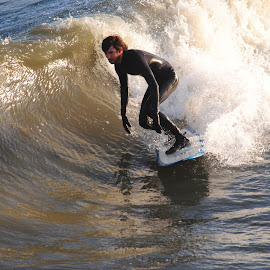 Surfer by Prentiss Findlay - Sports & Fitness Surfing ( surfing, ocean surfing, surfer, wave riding, surf riding )