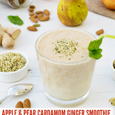Apple & Pear Cardamom Ginger Smoothie [vegan] [gluten free]