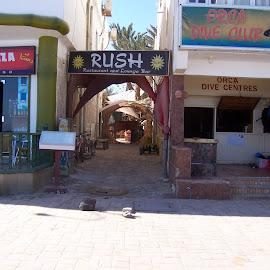 Back street by Jenny Noraika - City,  Street & Park  Markets & Shops ( cairo, shops, back street, shadow, egypt )