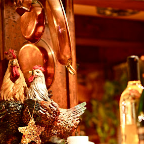 New Year's Eve by Denise Zimmerman - Artistic Objects Other Objects (  kitchen,  bottles,  still life, new year's. hens )